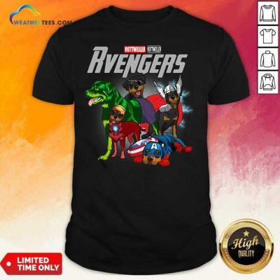 Marvel Avengers Rottweiler Rvengers Shirt - Design By Weathertees.com
