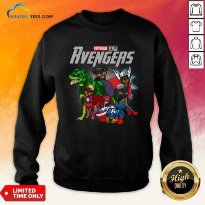 Marvel Avengers Rottweiler Rvengers Sweatshirt - Design By Weathertees.com