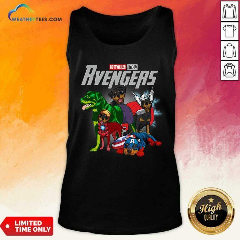 Marvel Avengers Rottweiler Rvengers Tank Top - Design By Weathertees.com
