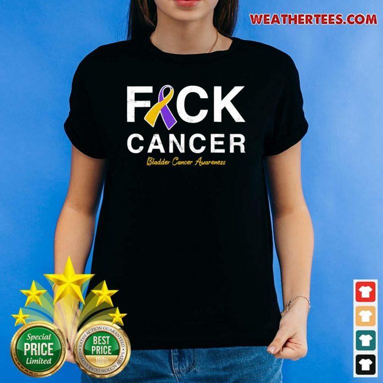 Raise Support Bladder Ribbon Cancer Awareness Pun Ladies-tee - Design By Weathertees.com