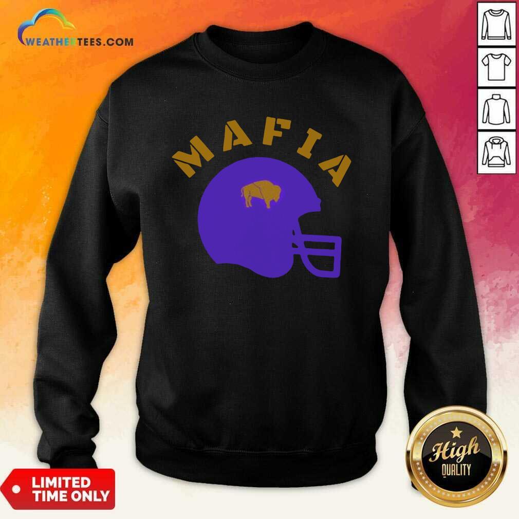 The Buffalo Bills Mafia Helmet 2021 Sweatshirt - Design By Weathertees.com