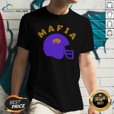 The Buffalo Bills Mafia Helmet 2021 V-neck - Design By Weathertees.com