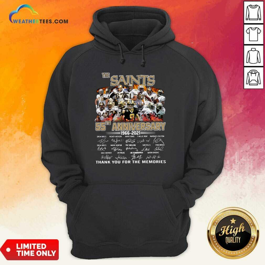 The Saints 55th Anniversary 1966 2021 Signatures Thank Hoodie - Design By Weathertees.com