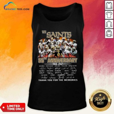 The Saints 55th Anniversary 1966 2021 Signatures Thank Tank Top - Design By Weathertees.com