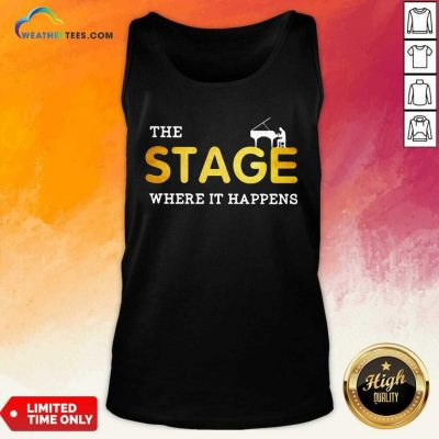 The Stage Where It Happens Piano Tank Top - Design By Weathertees.com