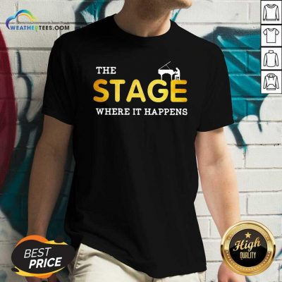 The Stage Where It Happens Piano V-neck - Design By Weathertees.com