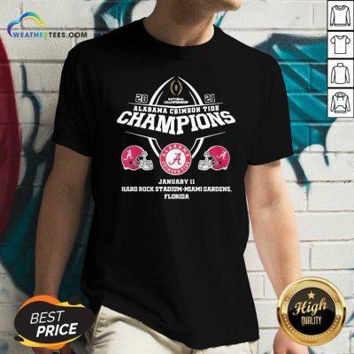 Alabama Crimson Tide Champions January 11 Hard Rock Stadium Miami Gardens Florida V-neck - Design By Weathertees.com