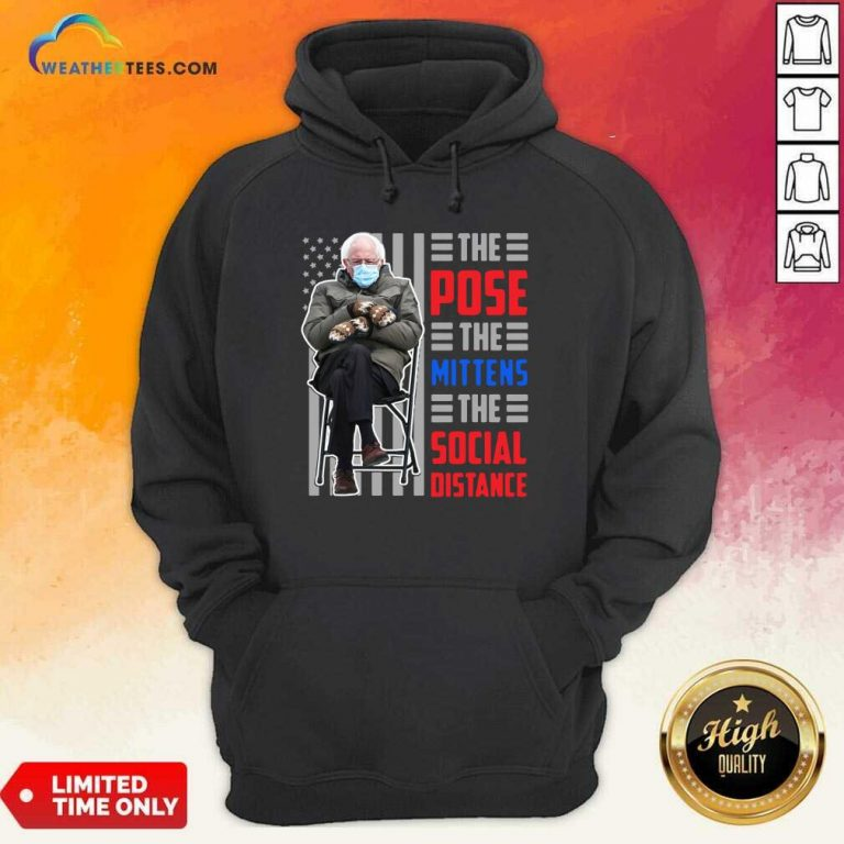 Bernie Sanders The Pose The Mittens The Social Distance Hoodie - Design By Weathertees.com