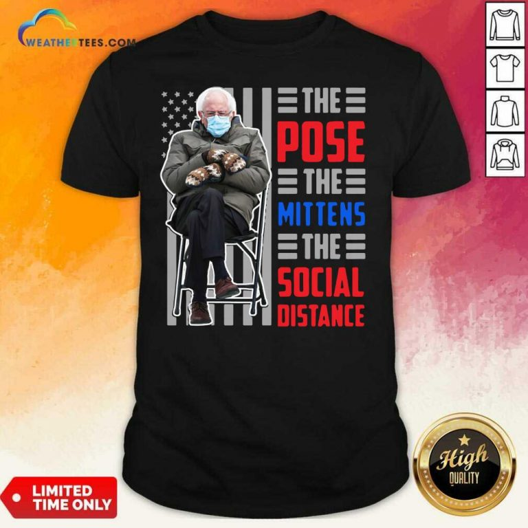 Bernie Sanders The Pose The Mittens The Social Distance Shirt - Design By Weathertees.com
