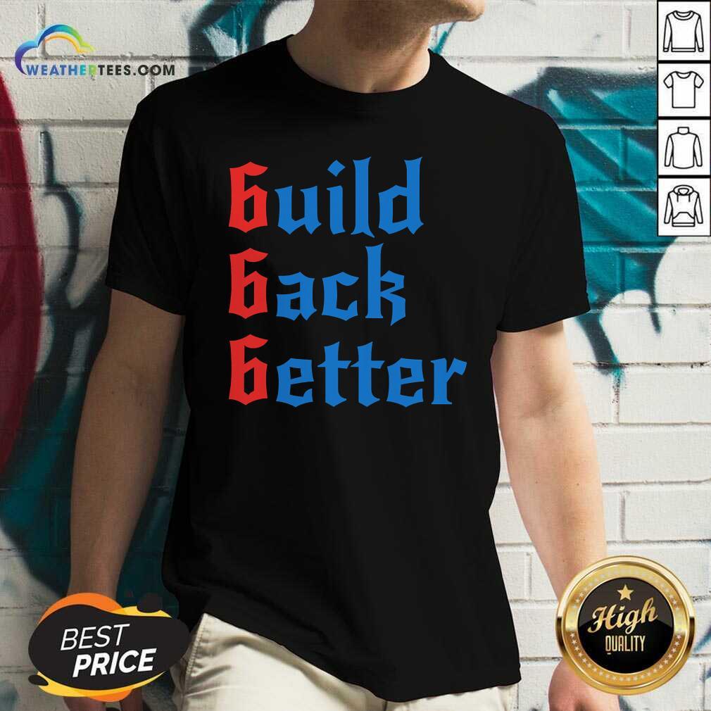 Build Back Better 666 Anti Globalist V-neck - Design By Weathertees.com