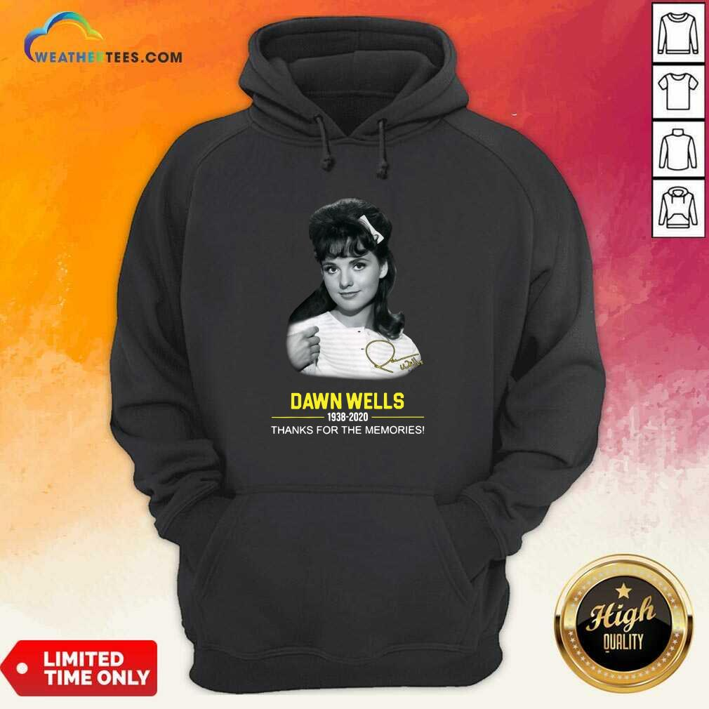 Dawn Wells 1983 2020 Thank You For The Memories Signature Hoodie - Design By Weathertees.com