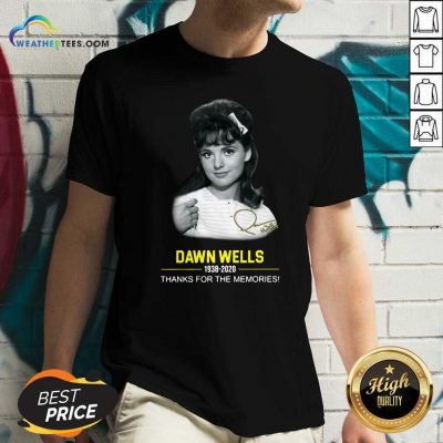 Dawn Wells 1983 2020 Thank You For The Memories Signature V-neck - Design By Weathertees.com