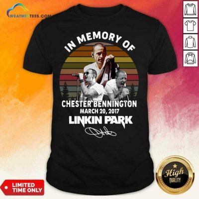 In Memory Of Chester Bennington July 20 2017 Linkin Park Signature Vintage Shirt - Design By Weathertees.com