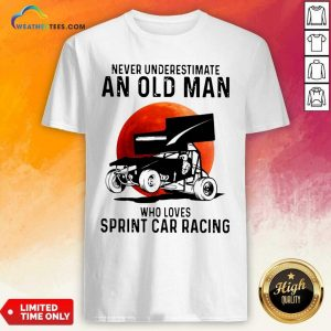 Never Underestimate An Old Man Who Loves Sprint Cả Racing The Moon Shirt - Design By Weathertees.com