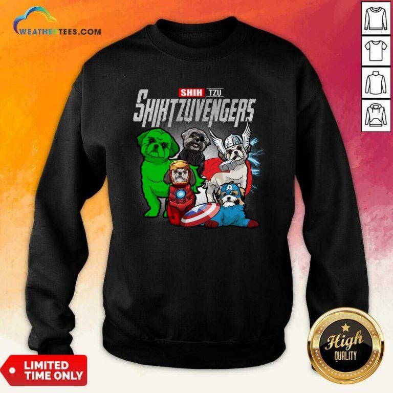 Shih Tzu Marvel Avengers Shihtzuvengers Sweatshirt - Design By Weathertees.com