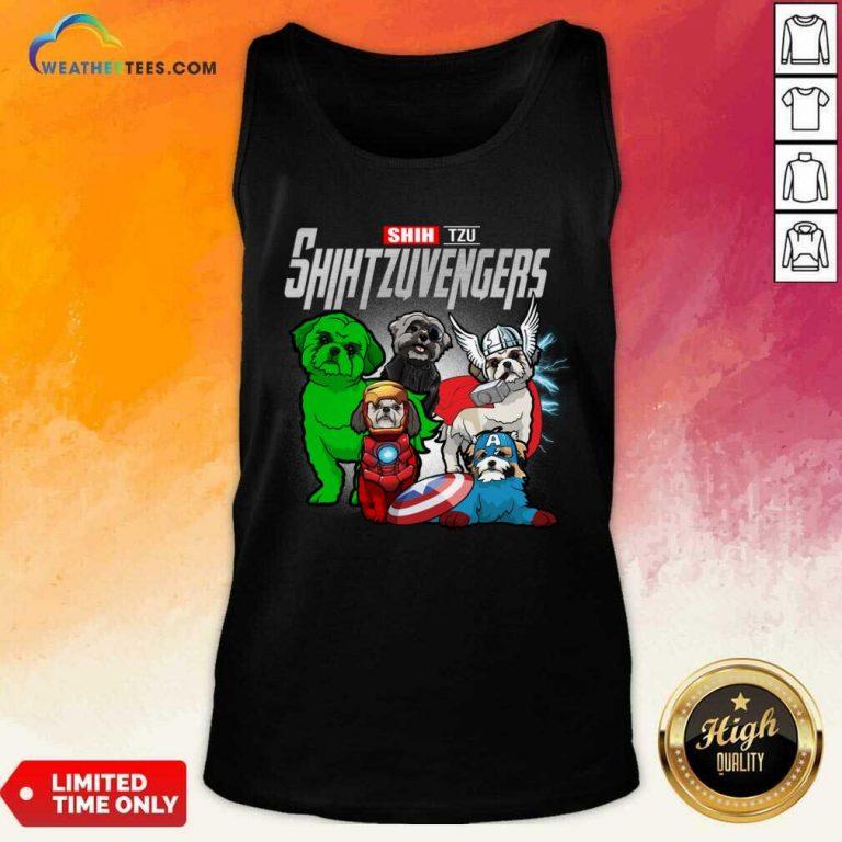 Shih Tzu Marvel Avengers Shihtzuvengers Tank Top - Design By Weathertees.com