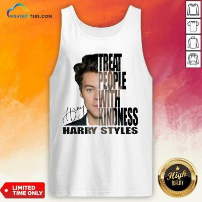 Treat People With Kindness Harry Styles Signature Tank Top - Design By Weathertees.com