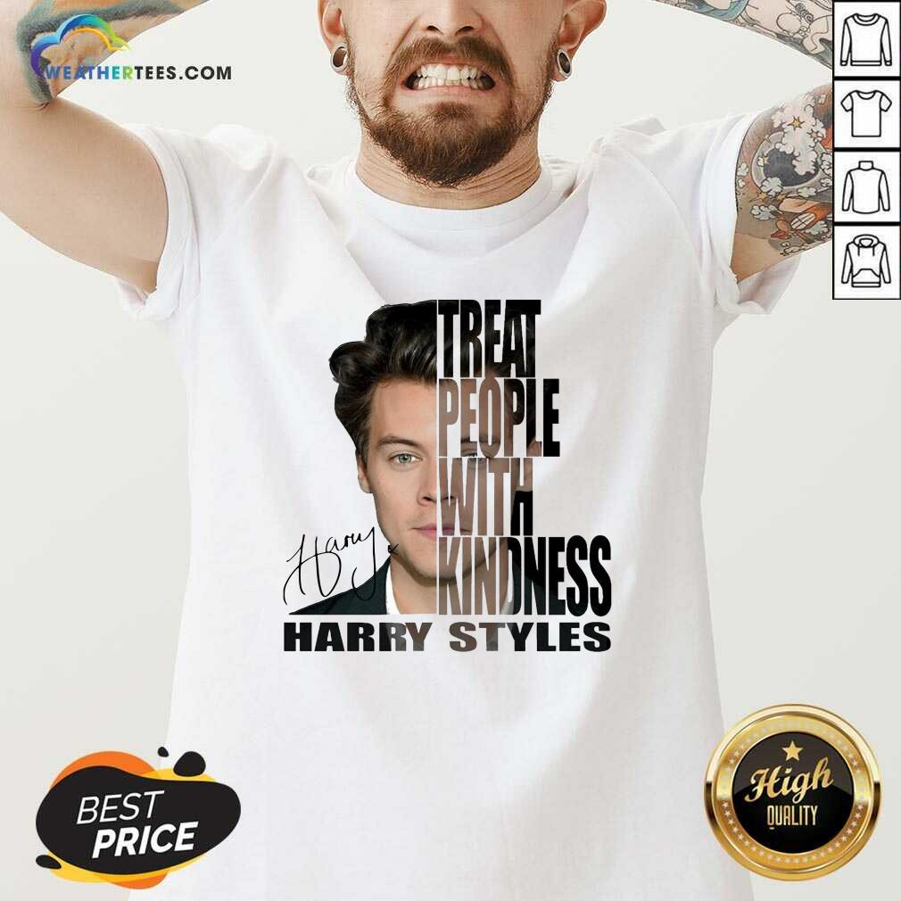 Treat People With Kindness Harry Styles Signature V-neck - Design By Weathertees.com