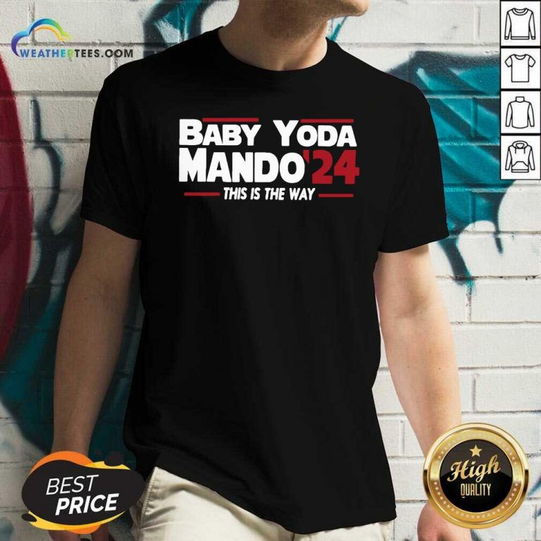 Babay Yoda Mando 24 This Is The Way V-neck - Design By Weathertees.com