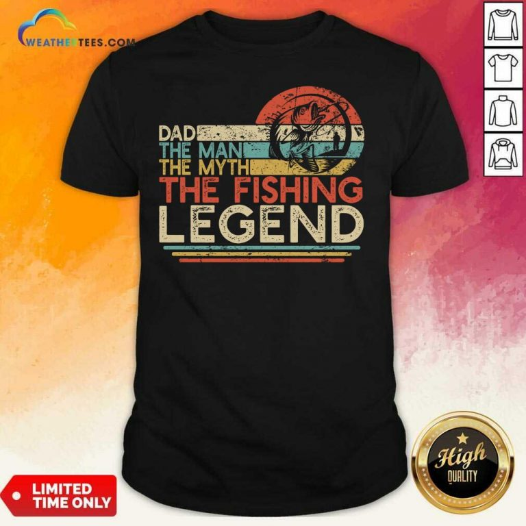 Dad The Man The Myth The Fishing Legen Vintage Shirt - Design By Weathertees.com