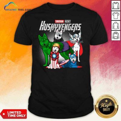 Siberian Husky Marvel Avengers Huskyvengers Shirt - Design By Weathertees.com