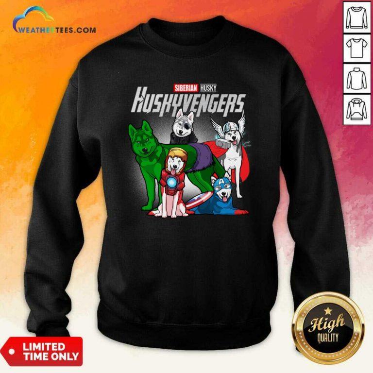 Siberian Husky Marvel Avengers Huskyvengers Sweatshirt - Design By Weathertees.com