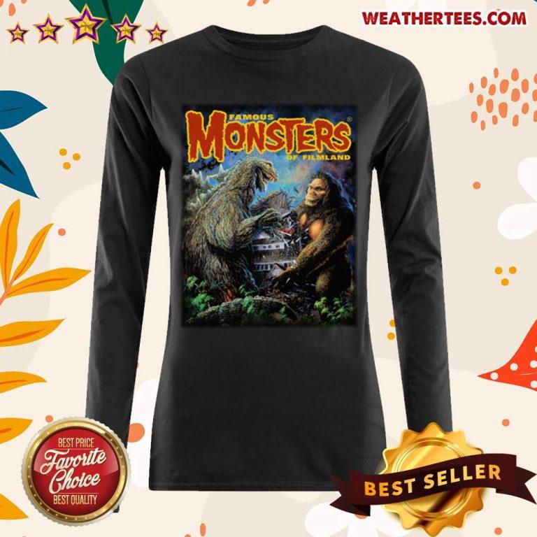 The Godzilla Vs Kong Long-sleeved - Design By Weathertees.com
