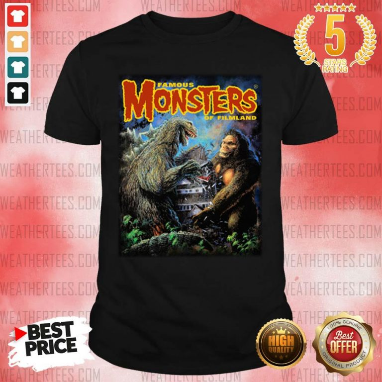 The Godzilla Vs Kong Shirt - Design By Weathertees.com