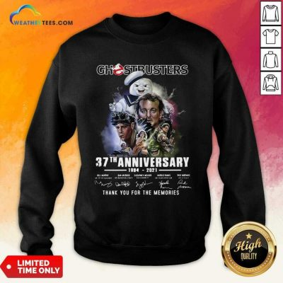 Chestbusters 37th Anniversary 1984 2021 Thank You For The Memories Signatures Sweatshirt - Design By Weathertees.com
