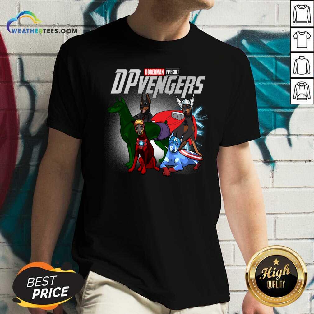 Dobeman Pincher Marvel Avengers DPvengers V-neck - Design By Weathertees.com