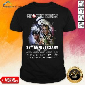 Ghostbusters 37th Anniversary Thank You For The Memories Signatures Shirt - Design By Weathertees.com