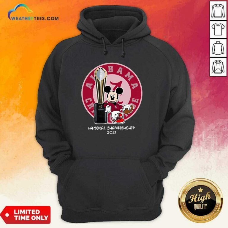 Mickey Mouse Alabama Crimson Tide National Championship 2021 Hoodie - Design By Weathertees.com