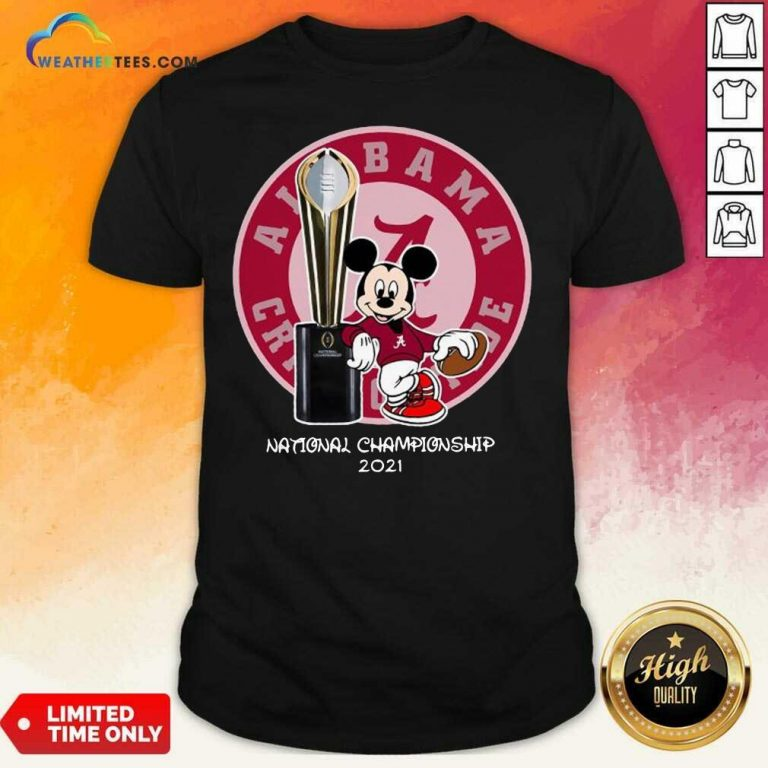 Mickey Mouse Alabama Crimson Tide National Championship 2021 Shirt - Design By Weathertees.com