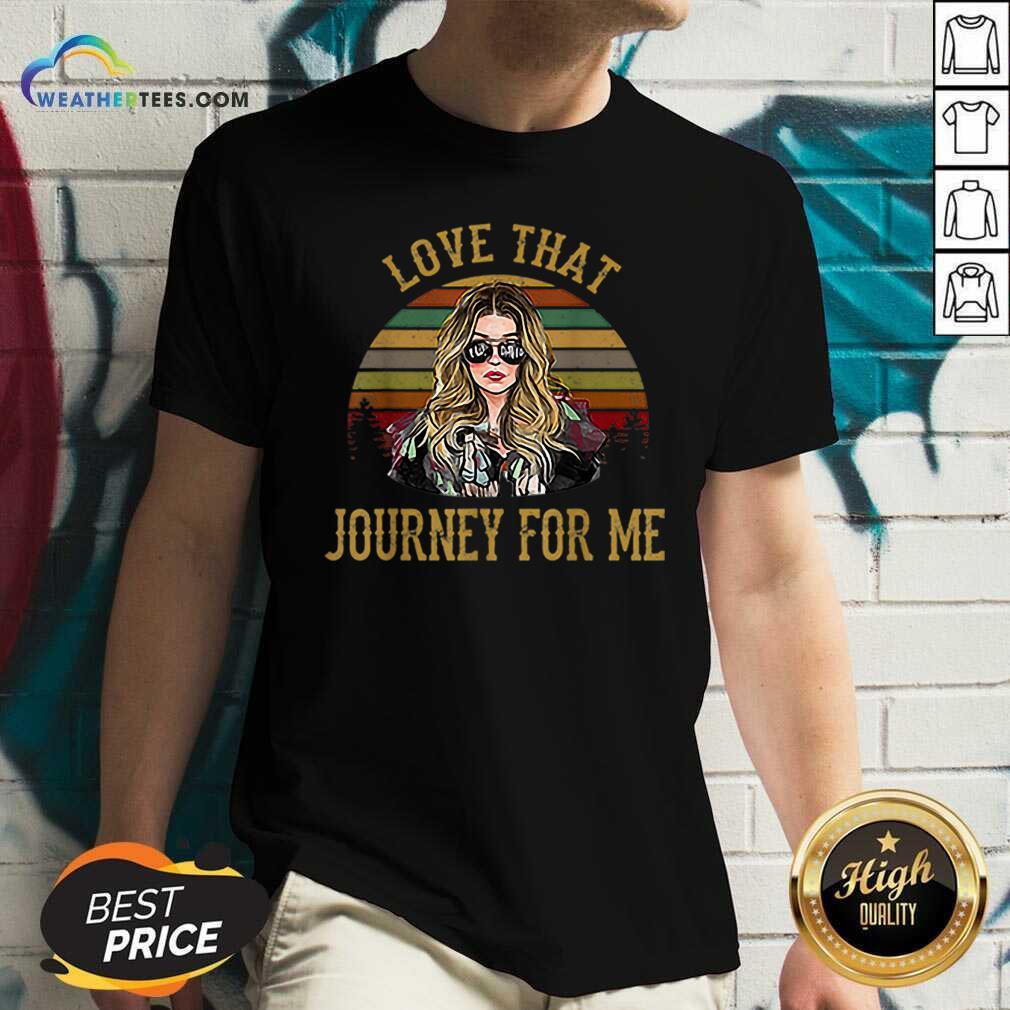 Alexis Rose Love That Journey For Me Vintage V-neck - Design By Weathertees.com