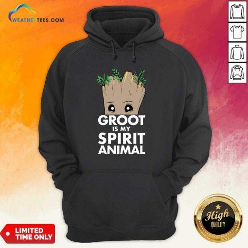 Baby Groot Is My Spirit Animal Hoodie - Design By Weathertees.com