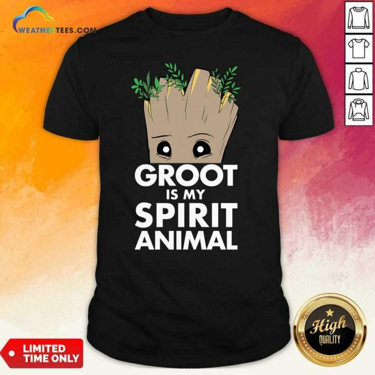 Baby Groot Is My Spirit Animal Shirt - Design By Weathertees.com