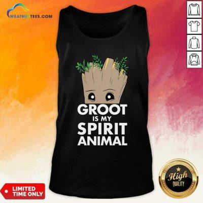 Baby Groot Is My Spirit Animal Tank Top - Design By Weathertees.com