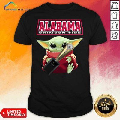 Baby Yoda Alabama Crimson Tide Shirt - Design By Weathertees.com