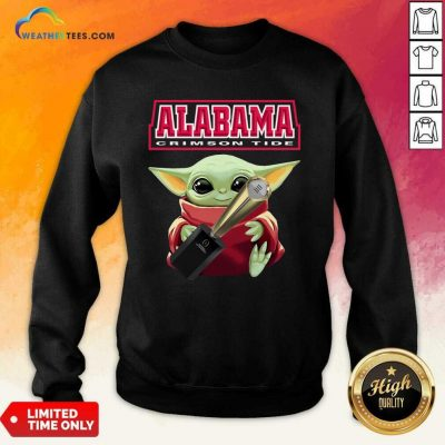 Baby Yoda Alabama Crimson Tide Sweatshirt - Design By Weathertees.com