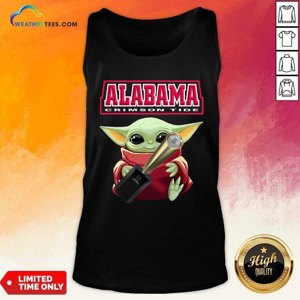 Baby Yoda Alabama Crimson Tide Tank Top - Design By Weathertees.com