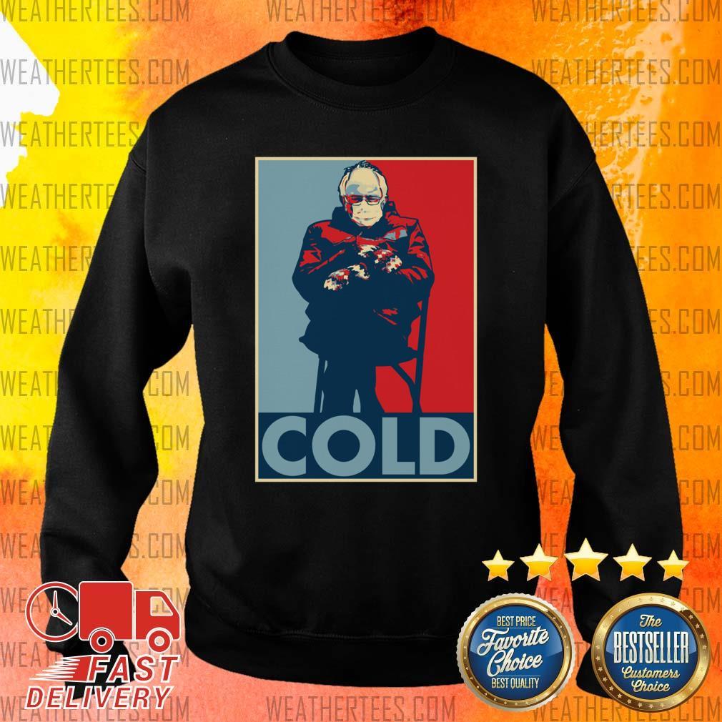 Bernie Sanders Cold Bernie Mittens Funny Meme Inauguration Sweater - Design By Weathertees.com