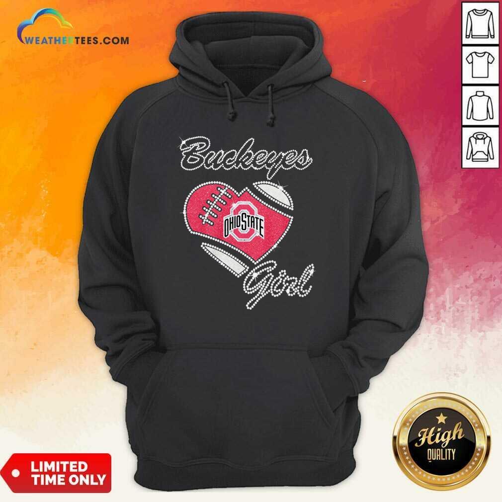 Diamond Ohio State Buckeyes Girl Heart Hoodie - Design By Weathertees.com