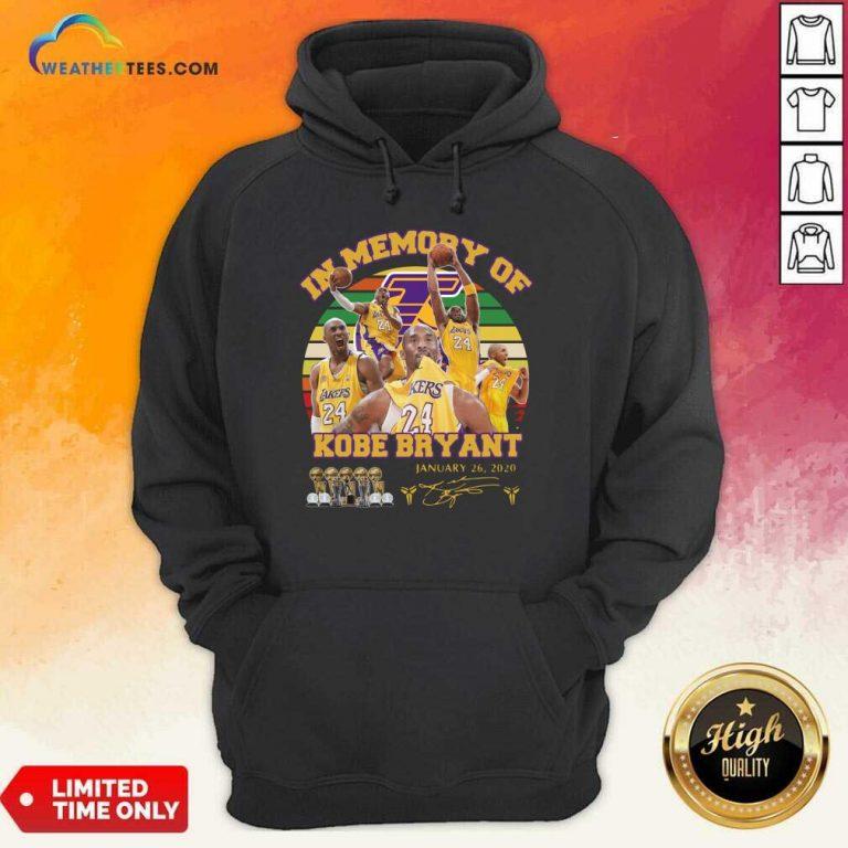 In Memory Of Kobe Bryant 24 January 26 2020 Vintage Hoodie - Design By Weathertees.com