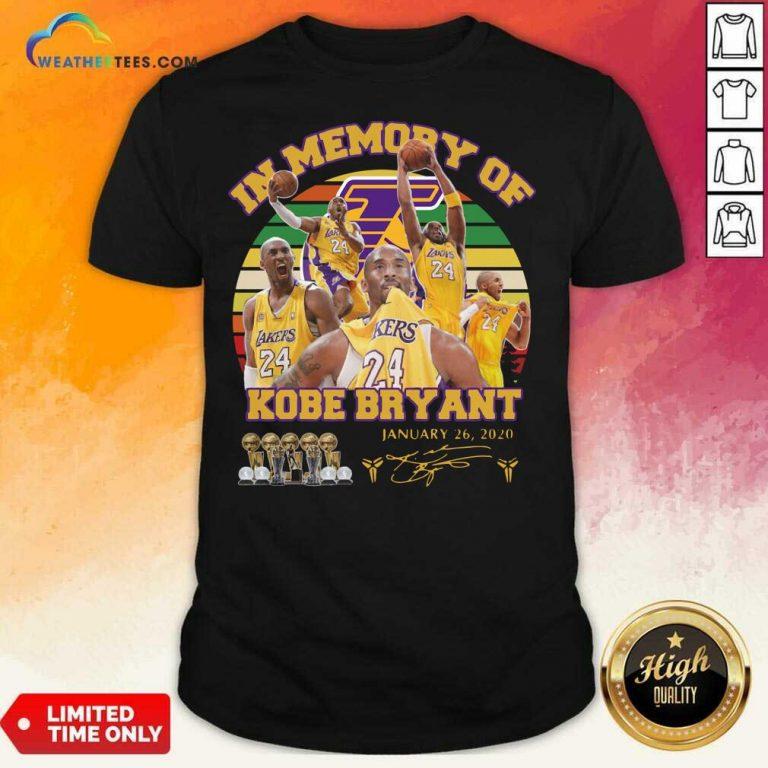 In Memory Of Kobe Bryant 24 January 26 2020 Vintage Shirt - Design By Weathertees.com