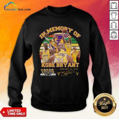 In Memory Of Kobe Bryant 24 January 26 2020 Vintage Sweatshirt - Design By Weathertees.com