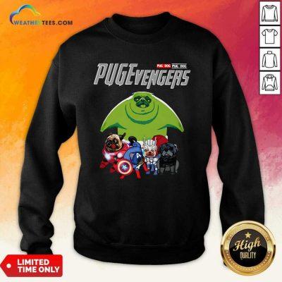 Pug Dog Marvel Avengers Pugevengers Sweatshirt - Design By Weathertees.com