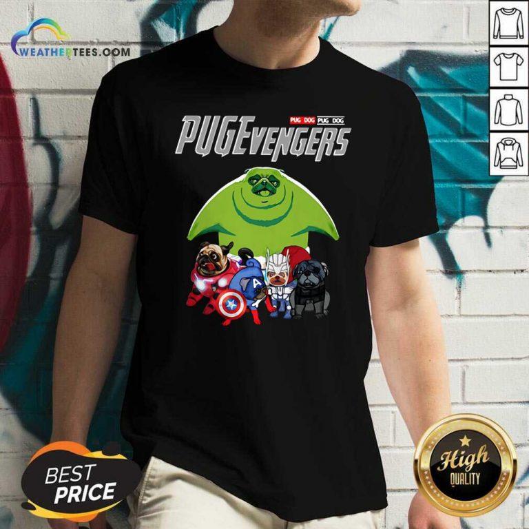 Pug Dog Marvel Avengers Pugevengers V-neck - Design By Weathertees.com