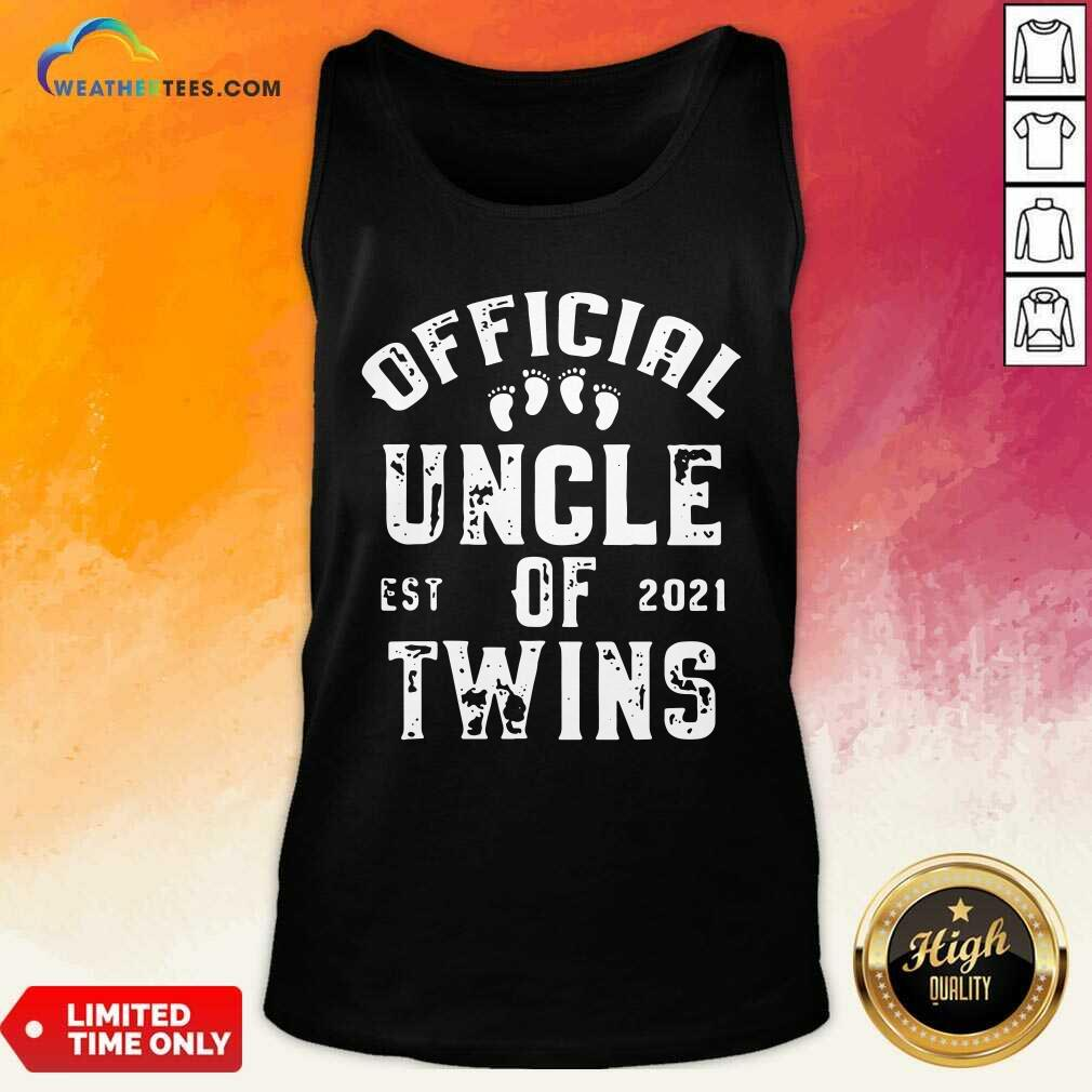 Uncle Of Twins Est 2021 Fathers Day Tank Top - Design By Weathertees.com