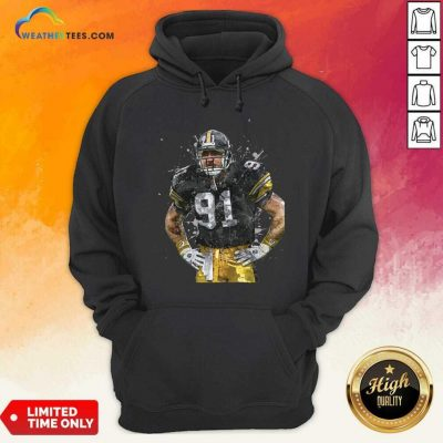 Pittsburgh Steelers Football Player 91 Nfl Playoffs Hoodie - Design By Weathertees.com
