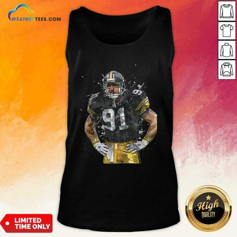 Pittsburgh Steelers Football Player 91 Nfl Playoffs Tank Top - Design By Weathertees.com